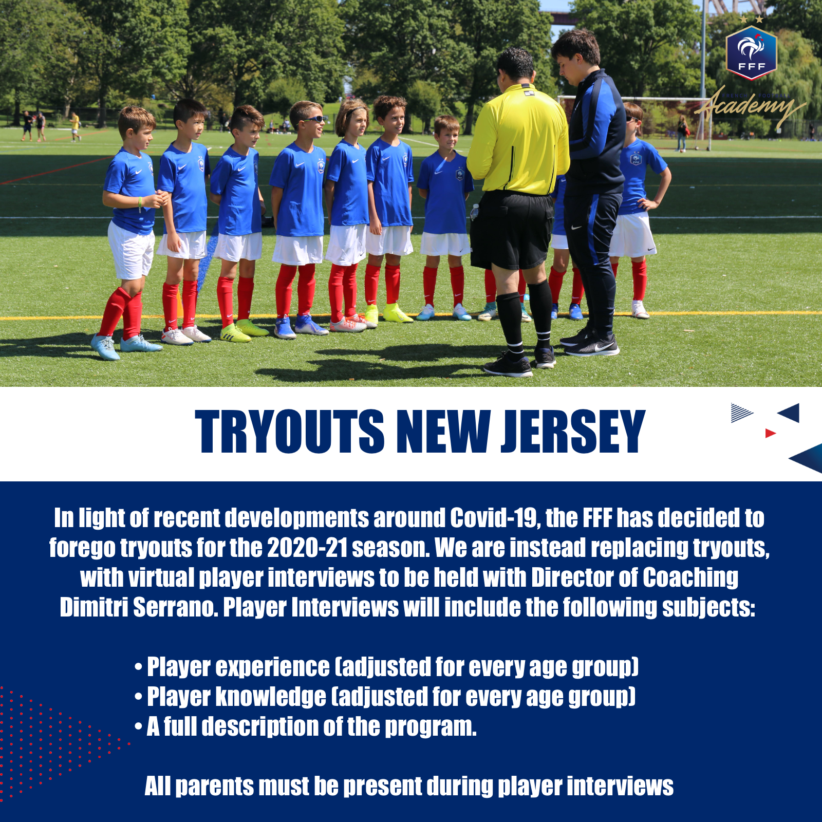 FFA - Tryouts New Jersey